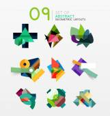 Aantal geometrische lay-out van abstract vector — Stockvector