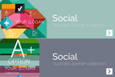 Flat design paper infographic banner set — Stock Vector
