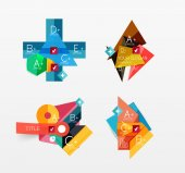 Set of vector abstract geometric layout — Stock Vector