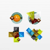 Set of modern geometric infographic web layouts — Stock Vector