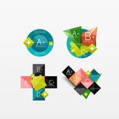 Set of modern geometric infographic web layouts — Stockvector
