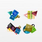 Set of modern geometric infographic web layouts — Stockvektor