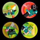 Set of flat design circle option infographics concepts — Stock Vector