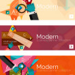 Modern flat design infographic banners — Stock Vector #68752245