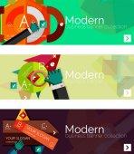 Modern flat design infographic banners — Stock Vector
