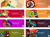 Modern flat design infographic banners — Stockvektor