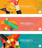 Modern flat design infographic banners — ストックベクタ