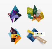 Set of vector abstract geometric layout — Vector de stock