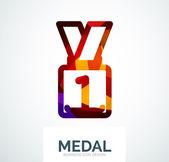 Colorful award business logo — ストックベクタ