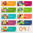 Set of banners with stickers, labels and elements for sale — Stock Vector #69201395