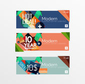 Set of banners with stickers, labels and elements for sale — Vettoriale Stock