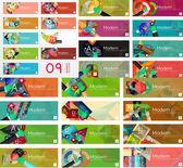 Мега коллекция баннеров инфографики плоский дизайн — Cтоковый вектор
