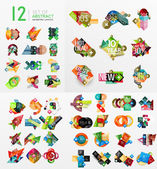 Mega collection of paper graphic banners, labels — Stock Vector