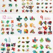 Vector set of paper graphics — Stock Vector #69691289