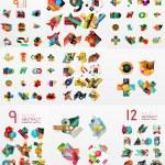 Vector set of paper graphics — Stock Vector #69691349