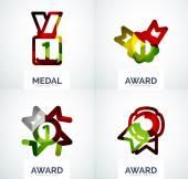 Prix coloré jeu de logo entreprise — Vecteur