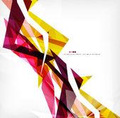 Angular geometric color shapes — Stock Vector