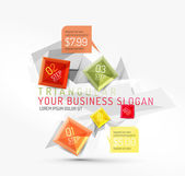 Vector fresh business abstract infographic — Stockvektor