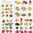 Colorful abstract geometric layouts, mega collection — Stock Vector #70059301