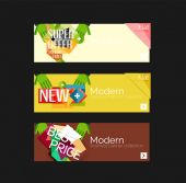 Set of banners with stickers, labels and elements for sale — Vector de stock