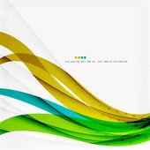 Green blue wave lines — Vector de stock