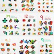 Vector set of paper graphics — Stock Vector #70178223