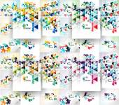 Set of vector triangular abstract backgrounds — Stock Vector
