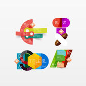 Набор современных геометрических инфографики веб-макетов — Cтоковый вектор