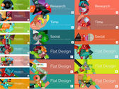 Mega collection of flat web infographic concepts and banners, various universal set — Stock Vector