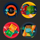 Set of flat design circle option infographics concepts — Wektor stockowy