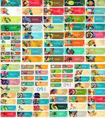 Mega set of universal web option infographic banners — Stock Vector