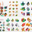 Vector set of paper graphics — Stock Vector #70637799