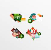 Set of labels, stickers, banners, badges and elements for sale — Stock Vector
