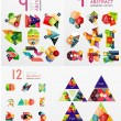 Colorful abstract geometric layouts, mega collection — Stock Vector #70713181