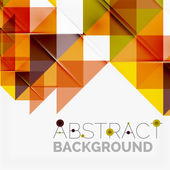 Abstract geometric background. Modern overlapping triangles — Stock Vector