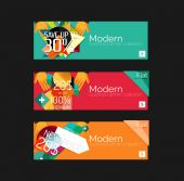 Set of banners with stickers, labels and elements for sale — ストックベクタ