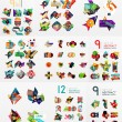 Vector set of paper graphics — Stock Vector #70885031