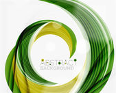 Vector swirl line abstract background — Stock Vector