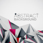 Geometric shapes in the air. Vector abstract background — Stock vektor