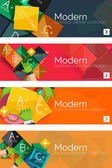 Collection of flat web infographic concepts and banners, various universal set — Stock Vector