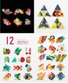 Colorful abstract geometric layouts, mega collection — Stock Vector