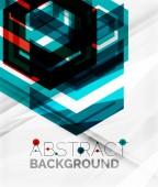 Geometric abstract background. Arrow design — Stock Vector