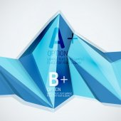 Geometric shapes in the air. Vector abstract background — Stock Vector