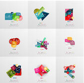 Set of paper graphic layouts — Stockvektor