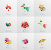 Set of paper graphic layouts — Stock Vector