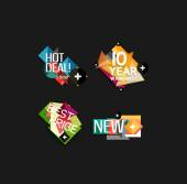 Set of labels, stickers, banners, badges and elements for sale — Vetor de Stock