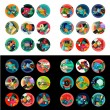Flat design round labels, option infographics — Stock Vector #71491127