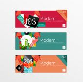 Set of banners with stickers, labels and elements for sale — Wektor stockowy