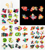 Colorful abstract geometric layouts, mega collection — Cтоковый вектор