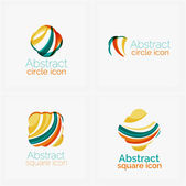 Clean elegant circle shaped abstract geometric logo. Universal for any idea — ストックベクタ